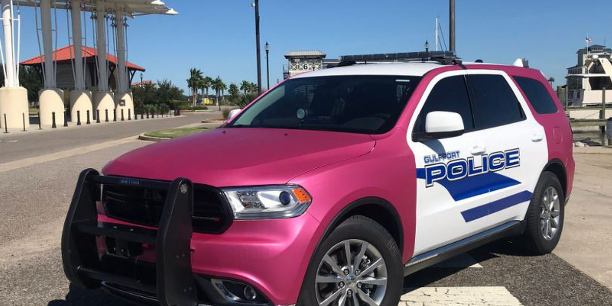 Gulfport Police reveal pink patrol car for Breast Cancer Awareness Month