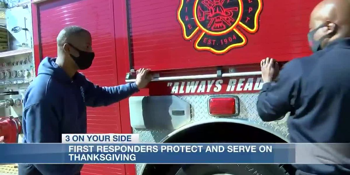 First responders protect and serve on Thanksgiving