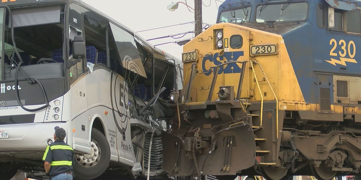 Witnesses recount terrifying moments as train slammed into charter bus