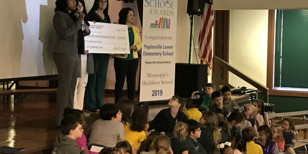 Poplarville school named healthiest in MS by BCBS Foundation