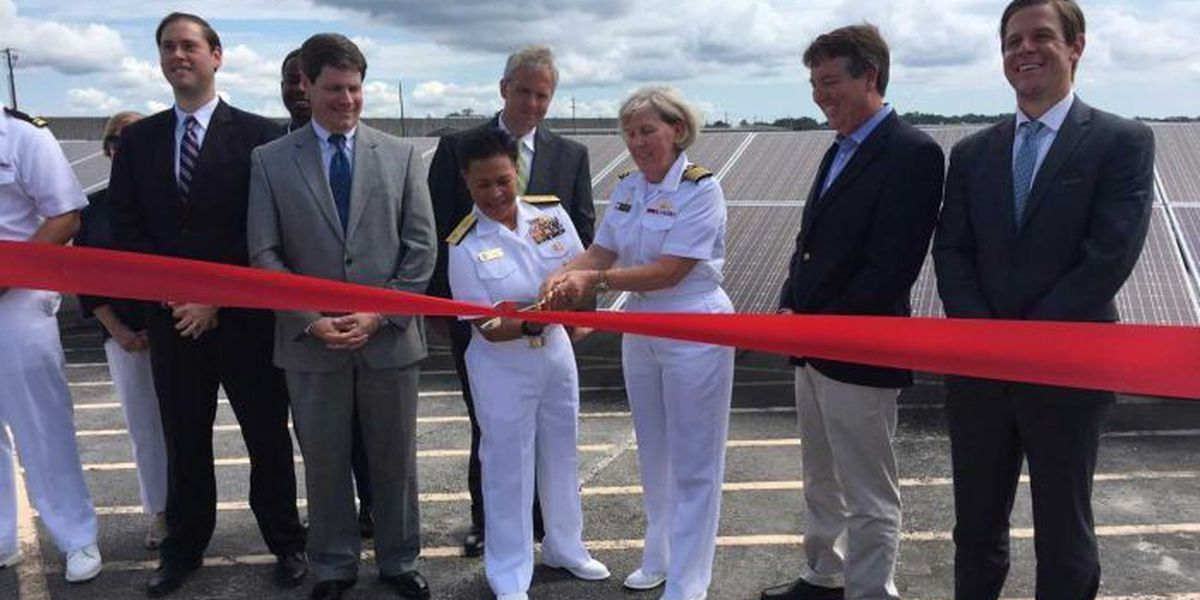 Harnessing the power of the sun on the Seabee base