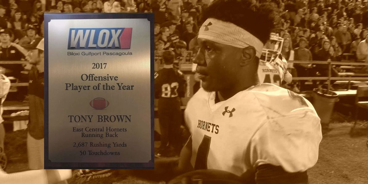 WLOX 2017 Offensive Player of the Year: Tony Brown of East Central