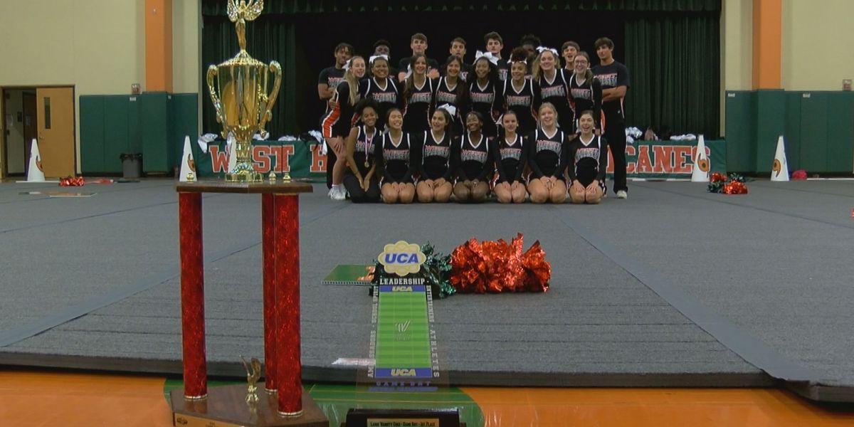 West Harrison cheerleading team wins national title