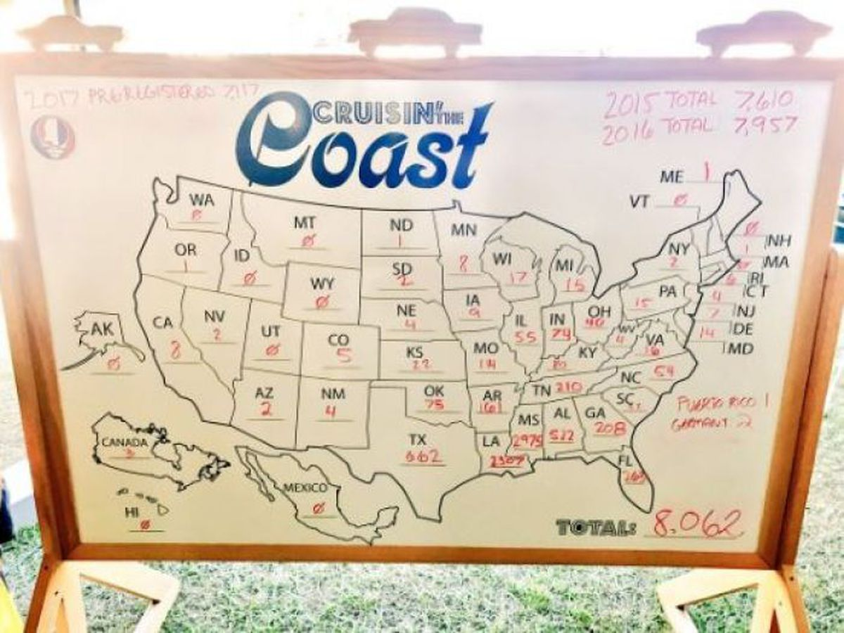 Cruisin' the Coast 2017 breaks registration record on map of mississippi towns, map of mississippi lakes, map of mississippi beach, map texas coast, map of pascagoula, map of mississippi sound, map of mississippi barrier islands, map of mississippi gulf, map of gulf coastline, map of mississippi river, gulf coast, map of mississippi storm, map of mississippi delta, map of mississippi valley, map of mississippi estuary, map of mississippi only,