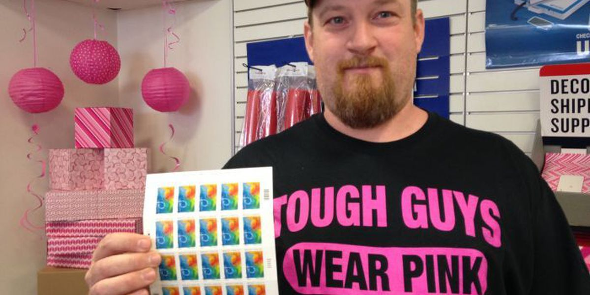 Post offices go pink to promote breast cancer research