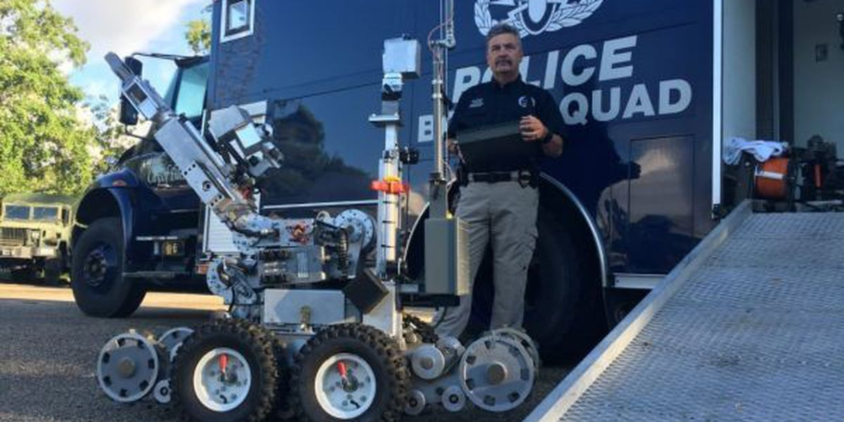 Robot used by Biloxi Police to defuse dangerous situations