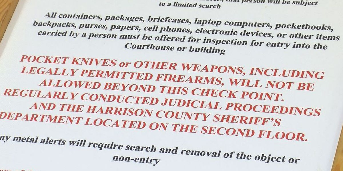 Harrison County courthouses adjusting to conceal carry decision