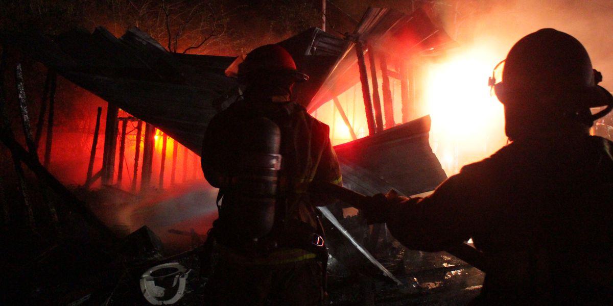 Fire destroys storage building in Harrison County
