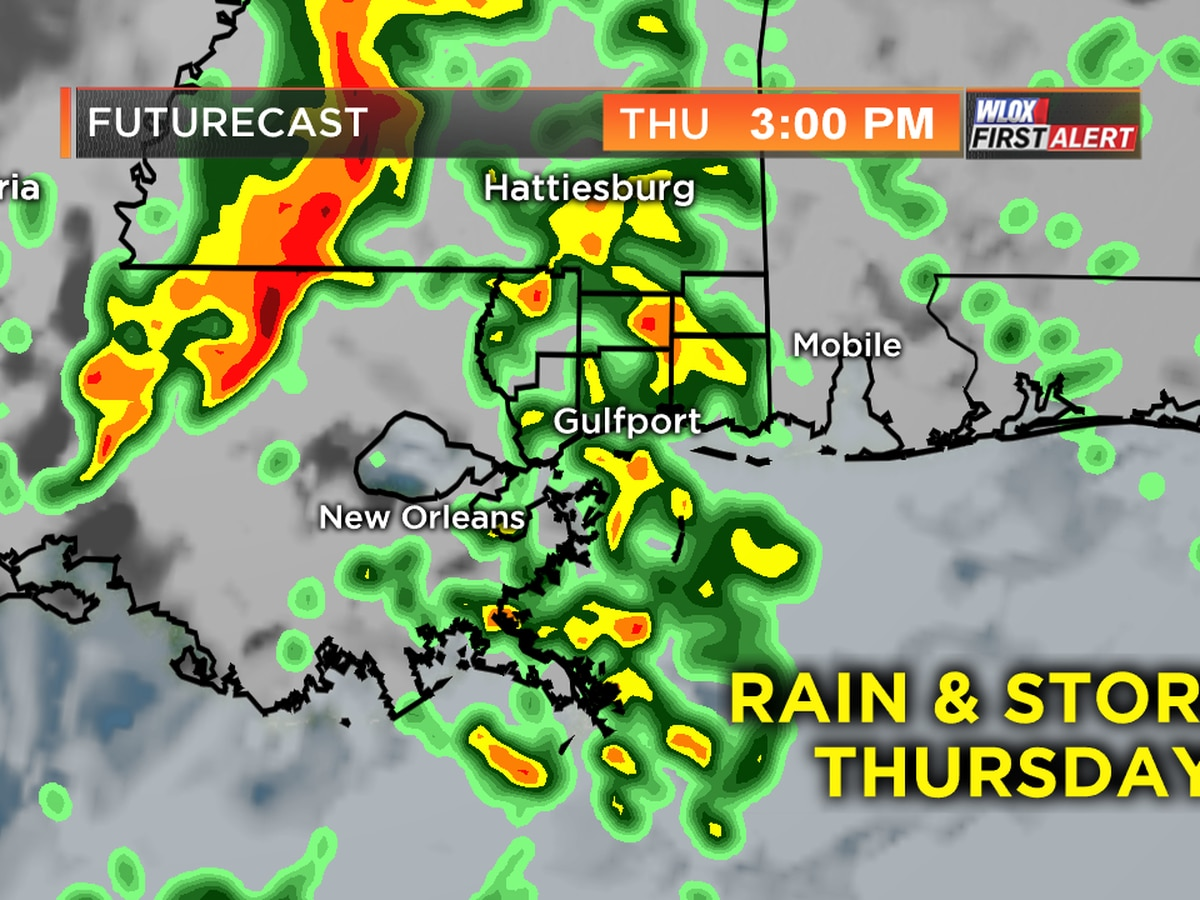 Rounds of showers and storms Thursday