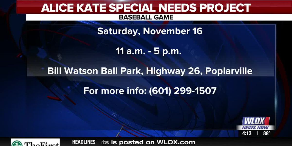 Happening Nov. 16th: Alice Kate Special Needs Project Baseball Game