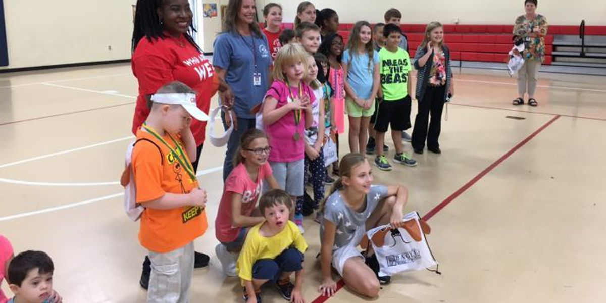 Olympics for special needs students takes over Delisle Elementary gym