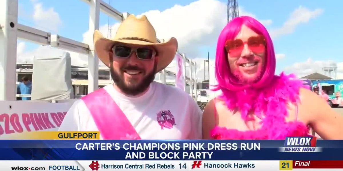 Pink Dress Run Block Party was minus the run but not the fun