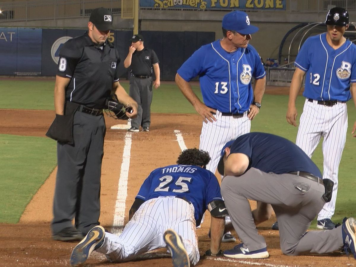 Biloxi Shuckers player recovering after ball fractures jaw during game