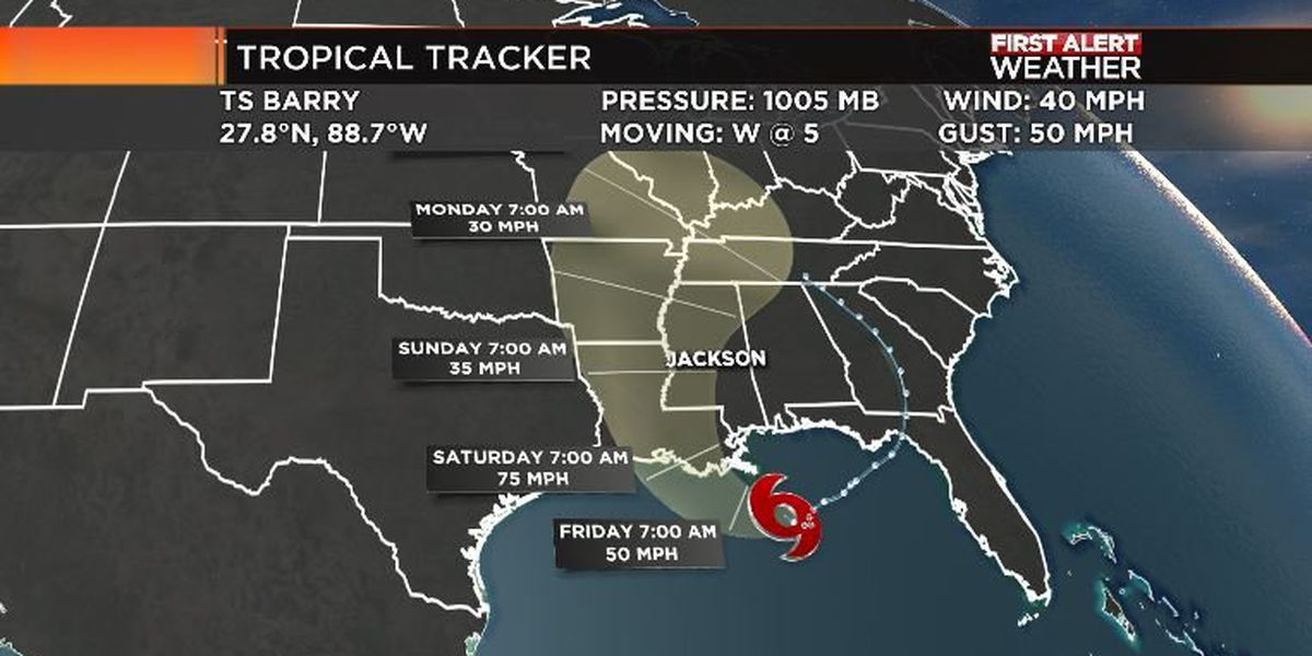 Mississippi officials continue monitoring and preparing for Tropical Storm Barry