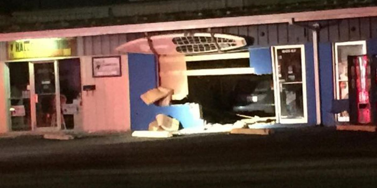 Medical emergency causes man to drive car through D'Iberville storefront