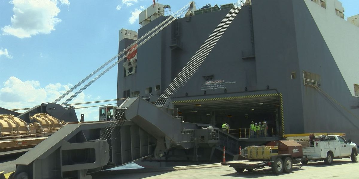Port of Gulfport assists Army National Guard with military shipments