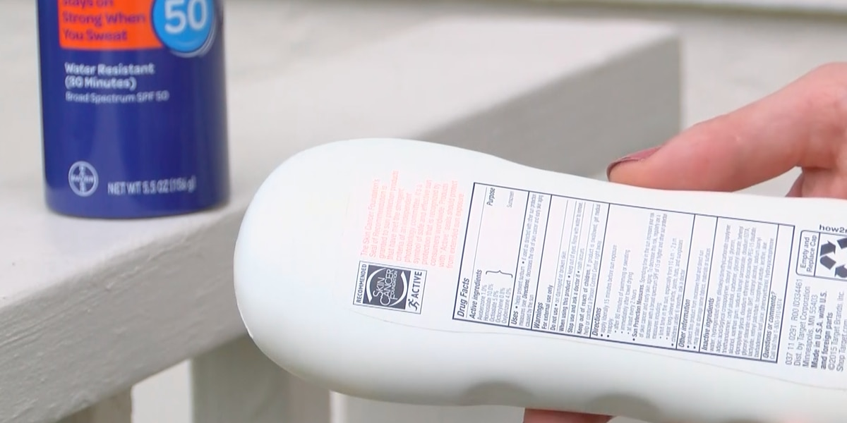 What's really in a bottle of sunblock anyway?