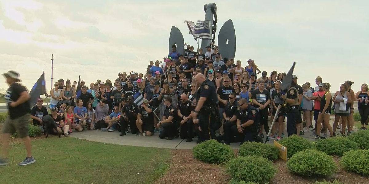 Memorial walk held in honor of fallen Biloxi officer