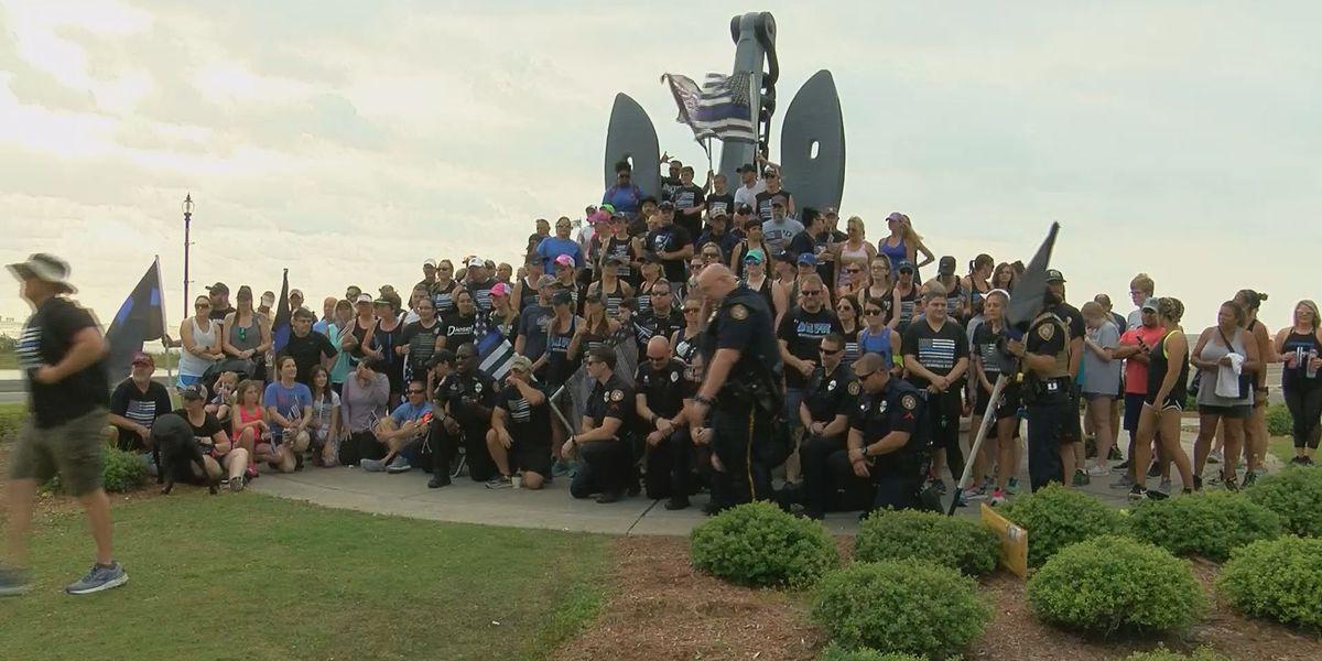 Memorial walk held in honor of fallen Biloxi officer