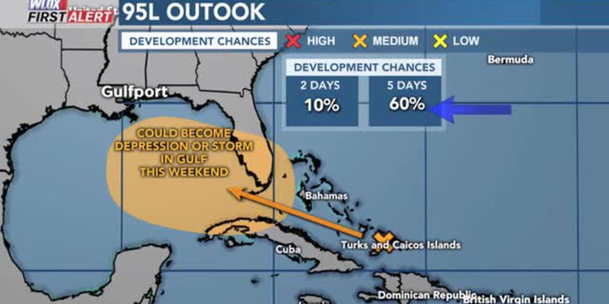 TROPICS VIDEO: 9-11-19 Now up to 60% chance for depression or storm in Gulf.