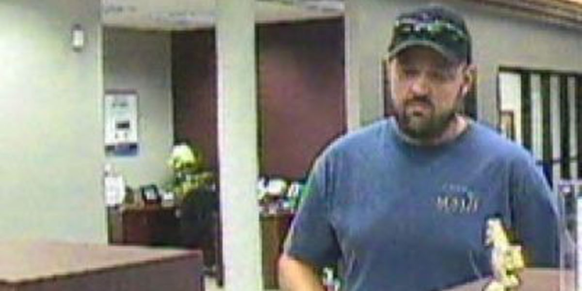 Pascagoula bank robbery suspect on the run