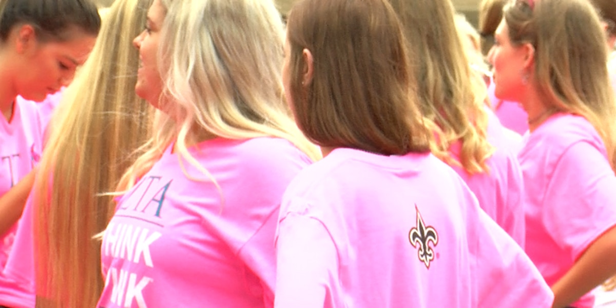 Tailgating NFL moms and Sorority spread breast cancer awareness