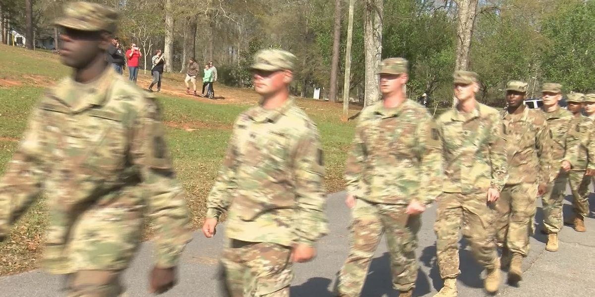 Lucedale gives grand send-off to National Guard unit