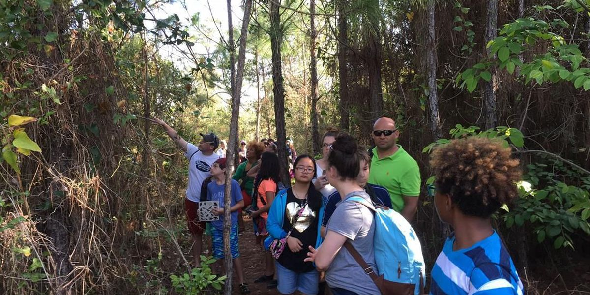 Visiting students study eco-system of Deer Island
