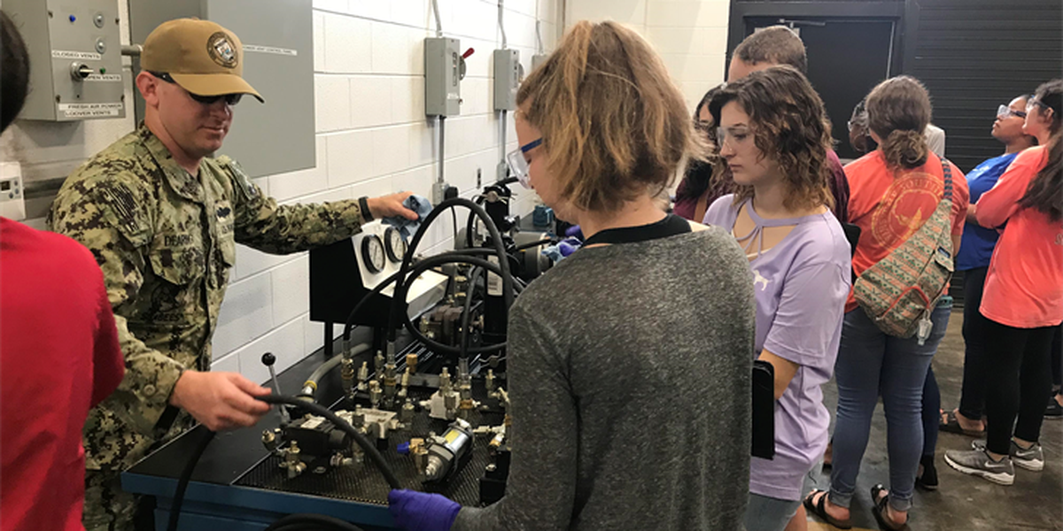 Seabee Base hosts high school students with a love for STEM