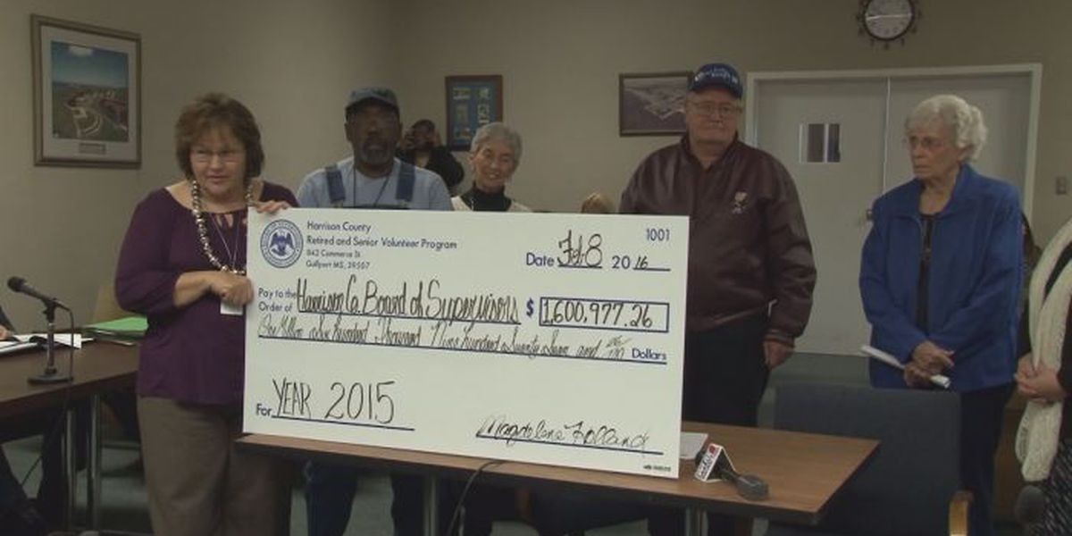 RSVP Program gives ceremonial check to Harrison Co.
