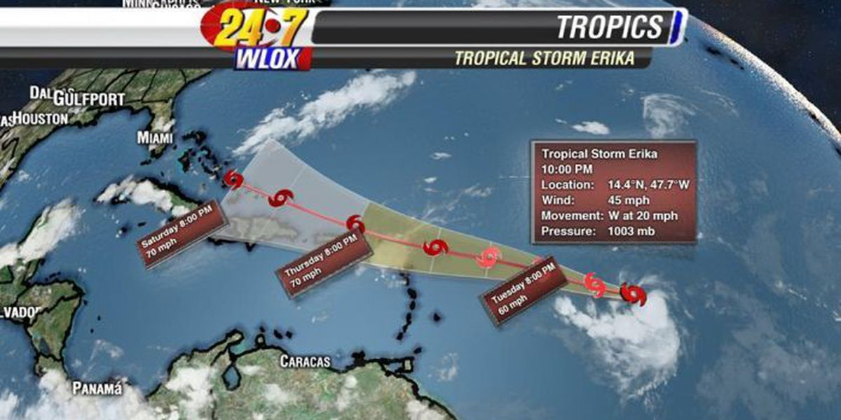 Tropical Storm Erika forms in the Atlantic