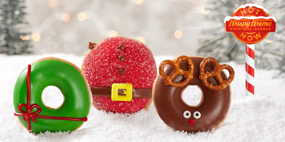 Krispy Kreme releases trio of holiday doughnuts