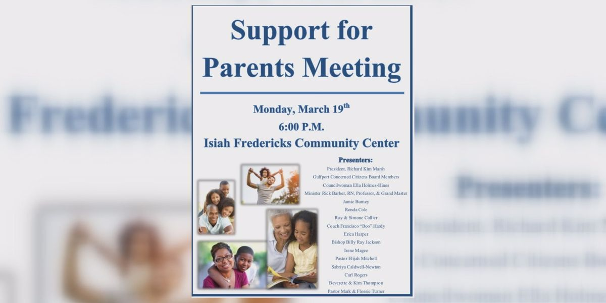 Gulfport Concerned Citizens to host parenting meeting