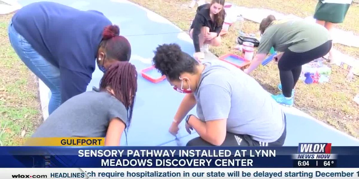 Sensory pathway installed at Lynn Meadows Discovery Center