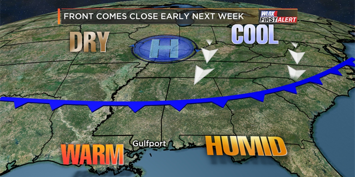 Cold front makes a run for the coast