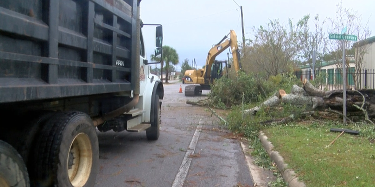 Pascagoula officials clear debris from Nate