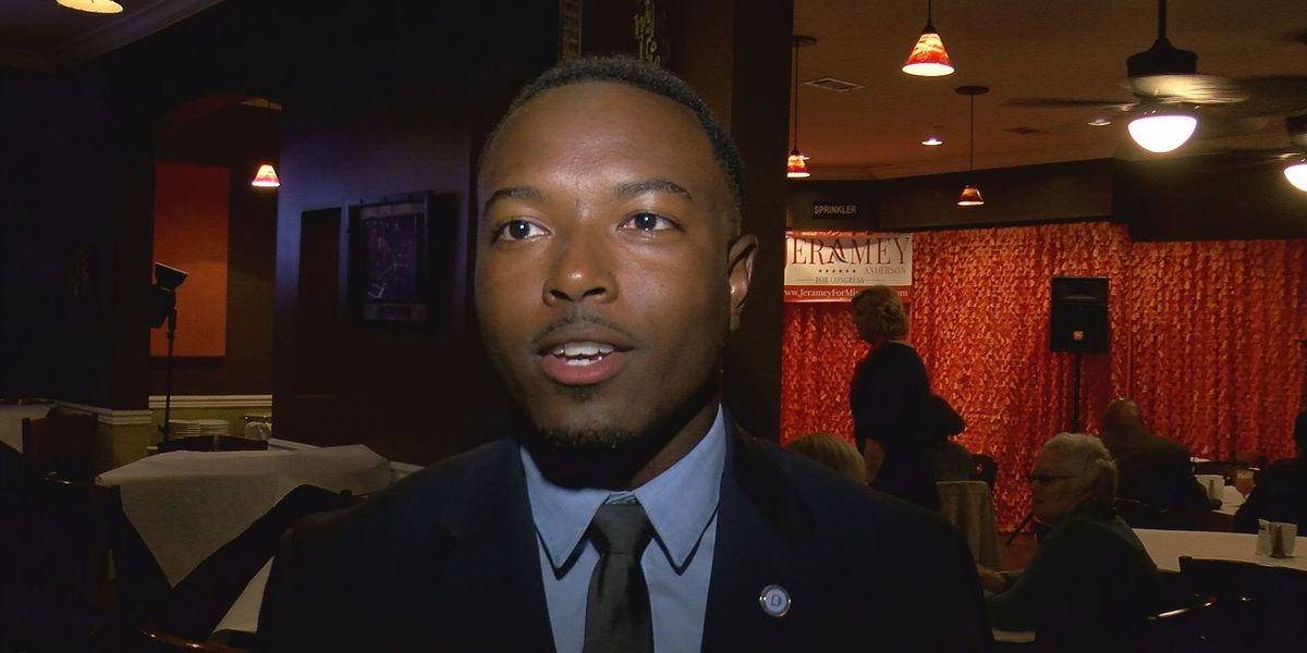 Supporters celebrate Moss Point native's congressional run