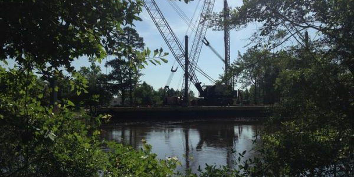 Lorraine Rd. Bridge project continues despite heavy rainfall