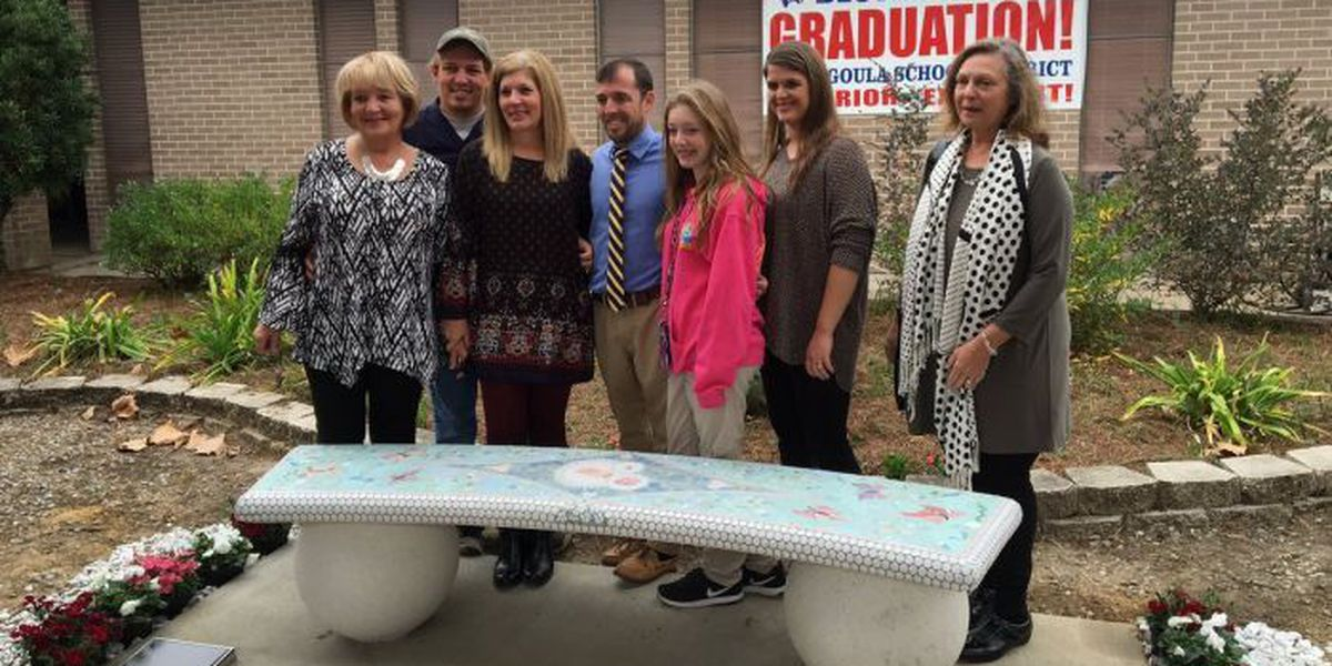 Bench dedication held for mother daughter killed in car accident