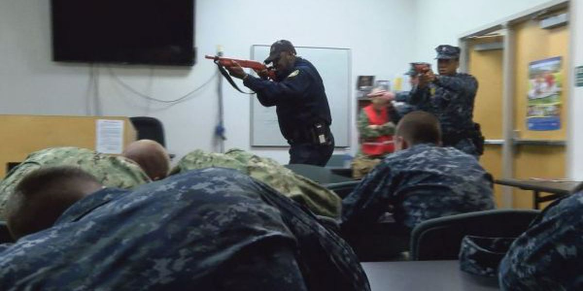 Active shooter training held at Seabee Base