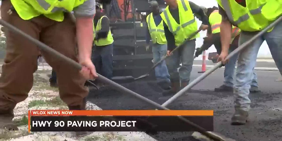 Hwy 90 paving project behind schedule