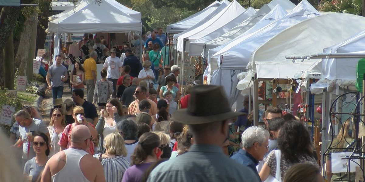 Crowds show up to Spring Arts Festival after last year's cancellation