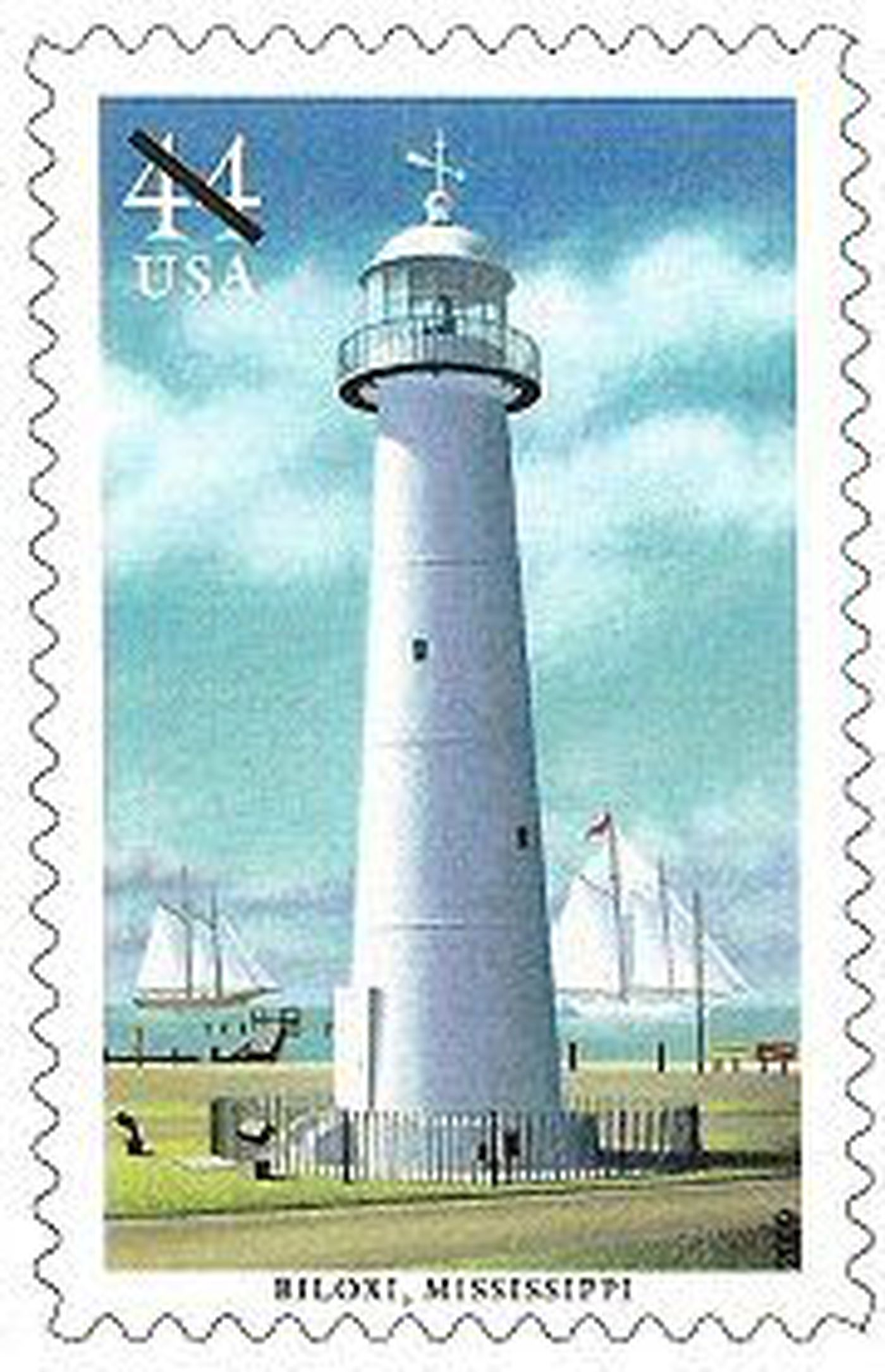Biloxi Lighthouse Honored In Stamp Series