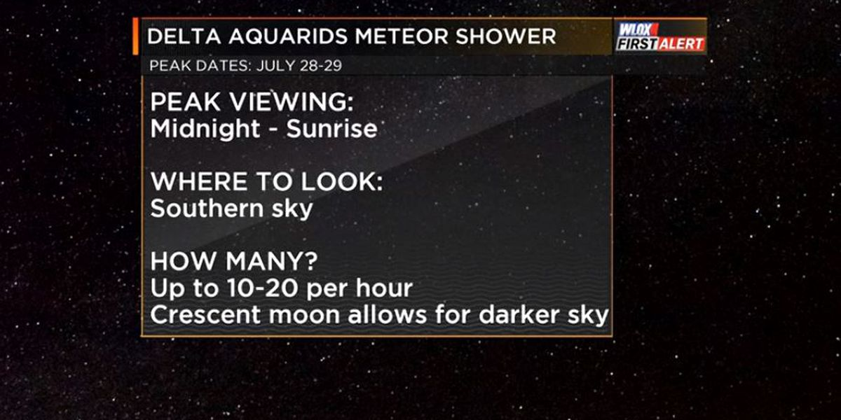 The Delta Aquarids Meteor Shower is reaching its peak