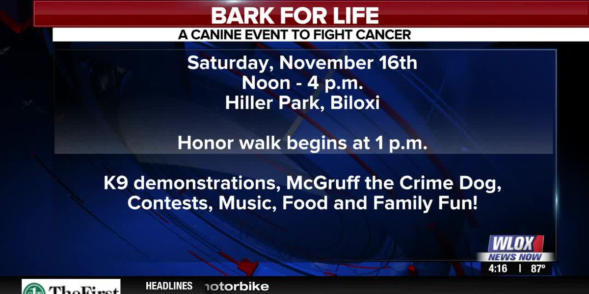 Happening Nov. 16th: Bark For Life at Hiller Park