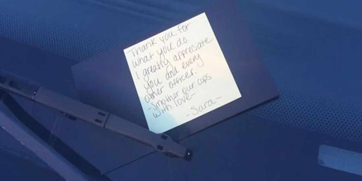 Mississippi woman leaves 'love note' on patrol car