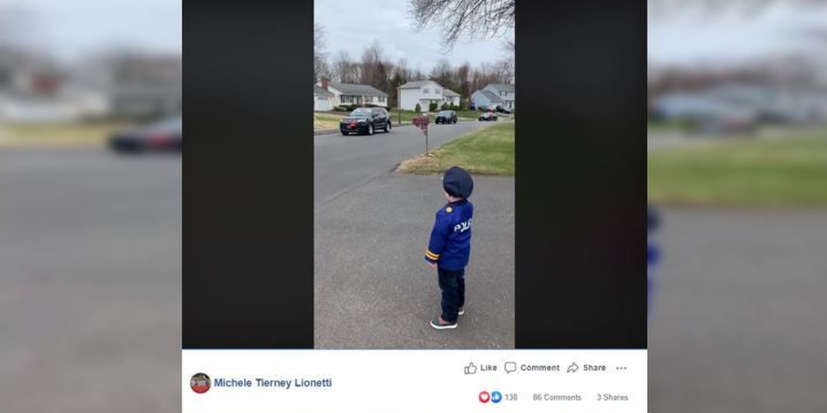 Police lead drive-by parade for Connecticut 5-year-old
