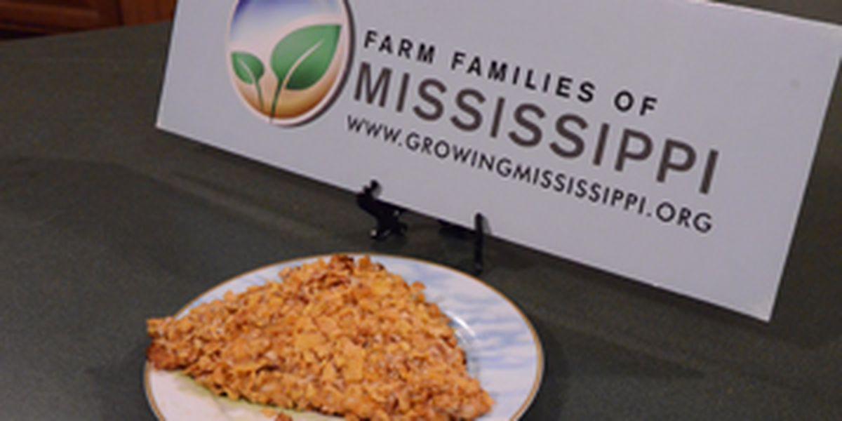 Pecan-crusted Mississippi farm-raised catfish