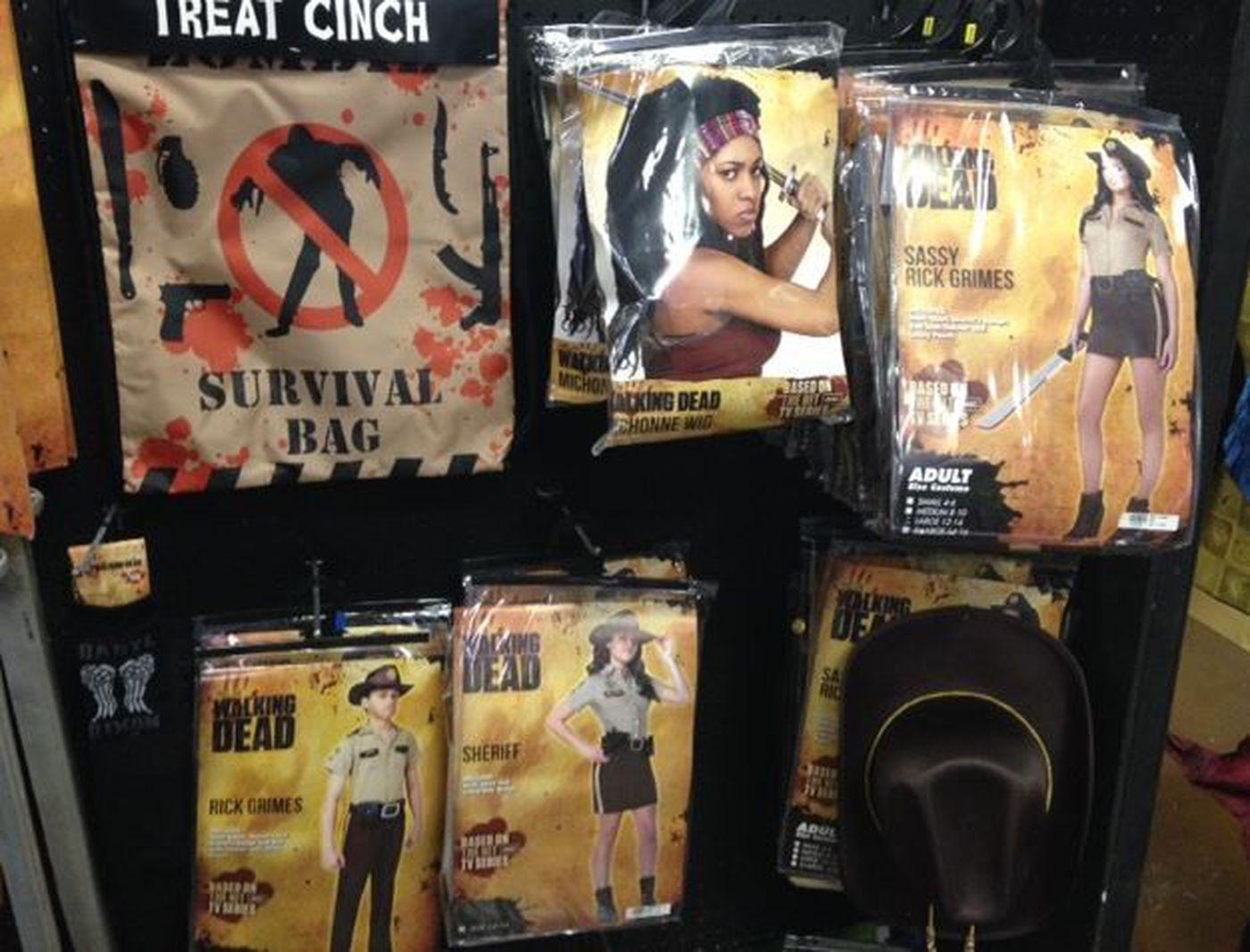 walking dead costumes at spirit halloween store image source wlox news