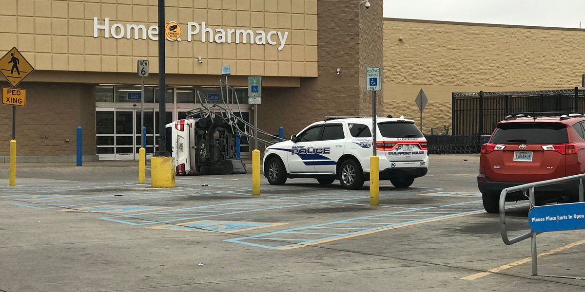 man driving wheeled loader hits multiple cars in walmart parking lot